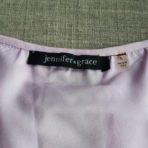 Jennifer & Grace Tops - Jennifer & Grace Purple Silk Blouse